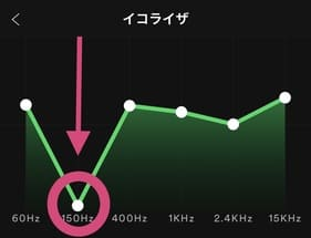 Spotifyはイコライザ調整できます。